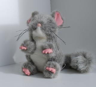 stuffed animal chinchilla